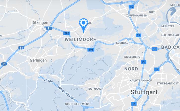 Kartenausschnitt Weilimdorf